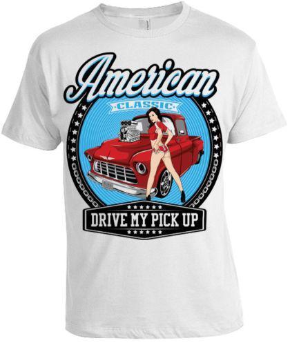 d2228a09 American Classic T Shirt Mens Womens Drive My Pickup Retro Truck Christmas Gift  T Shirt Logos Trendy T Shirts From Amesion96, $12.08| DHgate.Com