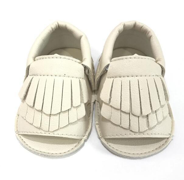 EMS 11 Couleur Nouveau cuir de vachette Mocassions à bout ouvert pour bébé sandales bébé bottillons bottillons en cuir de bébé soudé 2layer