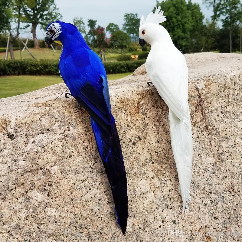 Acessórios de moda 35 CM Artificial Papagaios Pássaro Decoração Simulação Aves Papagaios Ornamento Do Jardim Aves Artificiais Decoração de Halloween G609S