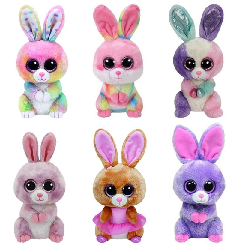 393d05649c9 2019 Ty Beanie Boos Easter Rabbit Bunny Bloom Bubby Lollipop Twinkle Toes  Cute Plush Stuffed Animal Big Eyes Kids Toys For Children From Heathera