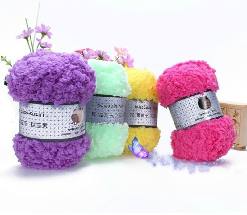 Wholesale 2017 Soft Knitting Yarn Fit DIY Crochet Winter Warm Hand Knitting  Baby Sweater Yarn For Scarf Hat Sweater YL671924