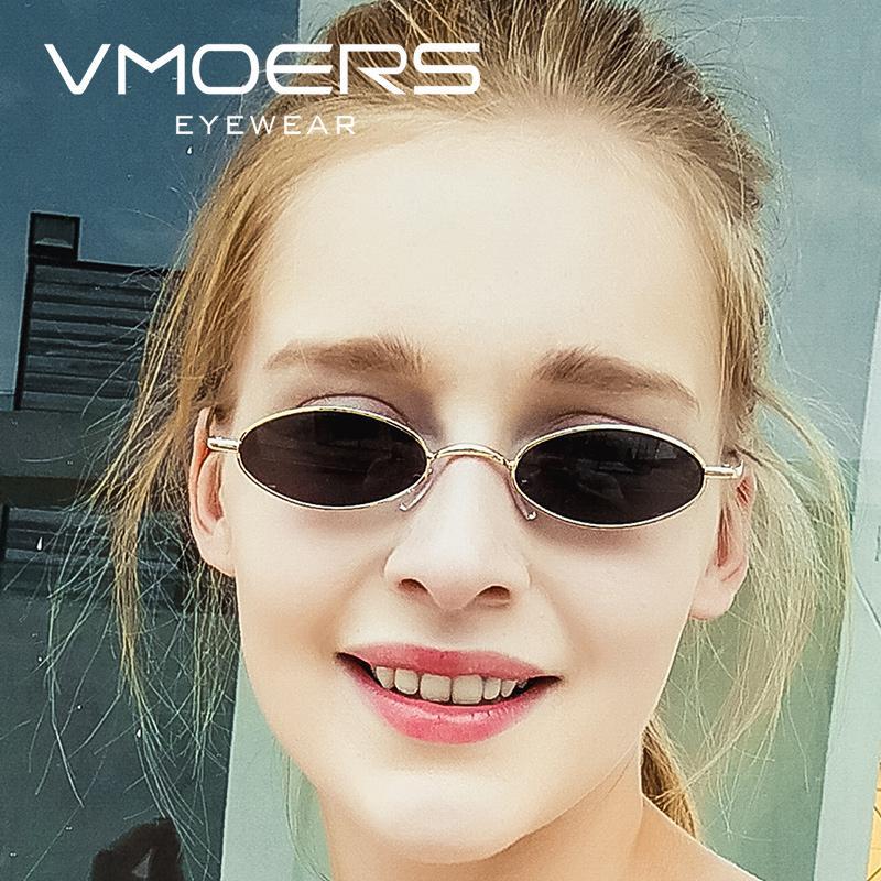 VMOERS Retro Oval Sunglasses Women Small Metal Fashion Sun Glasses For Women  Vintage Shades Female Brand Oculos De Sol Feminino Vintage Sunglasses Super  ... 51ac45ecad