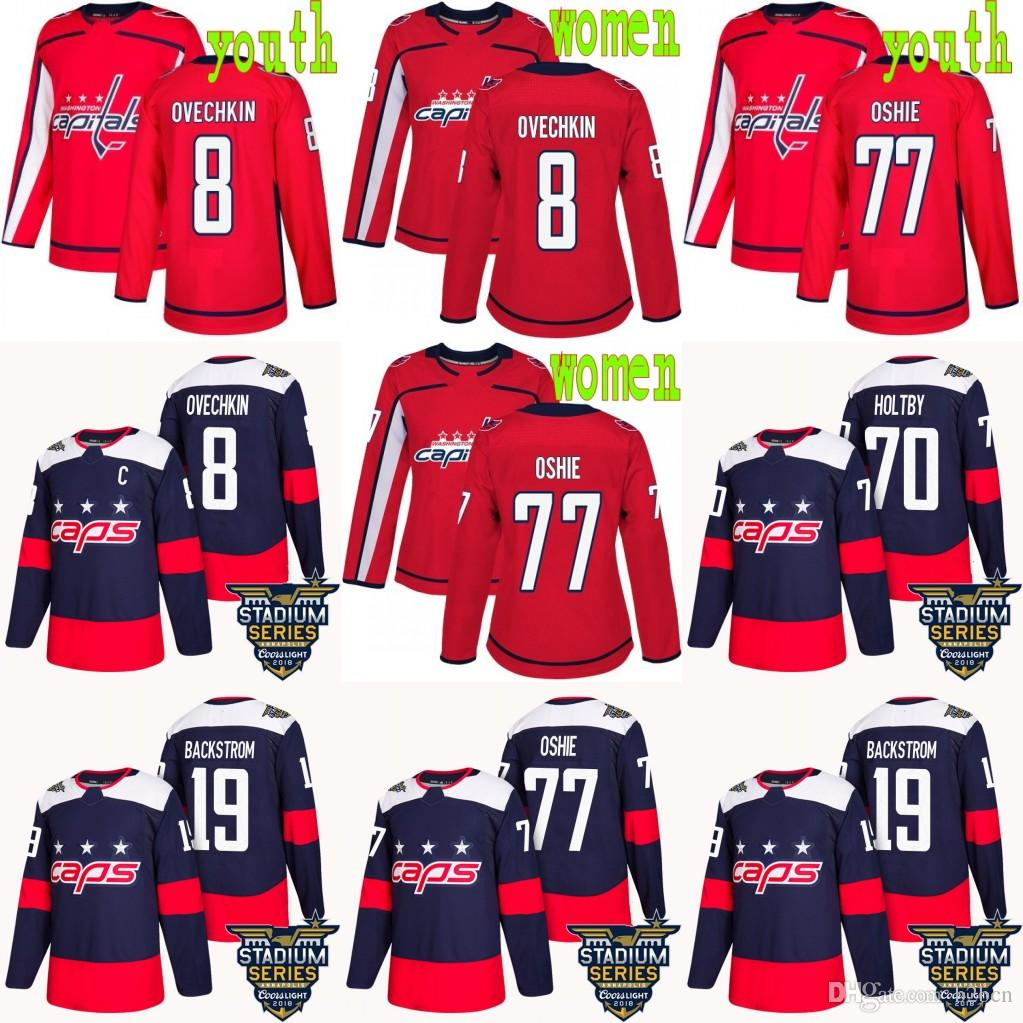 753a78e34 2019 2018 Stanley Cup Champions Youth Women MEN Washington Capitals 70  Braden Holtby 19 Capitals Nicklas 8 Alex Ovechkin 77 TJ Oshie Jerseys From  B2bcn, ...