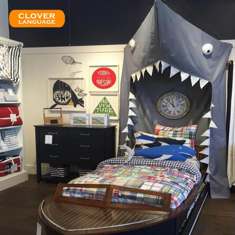 Grosshandel Clover Sprache Kinder Erwachsene Cartoon Shark Bett Zelt