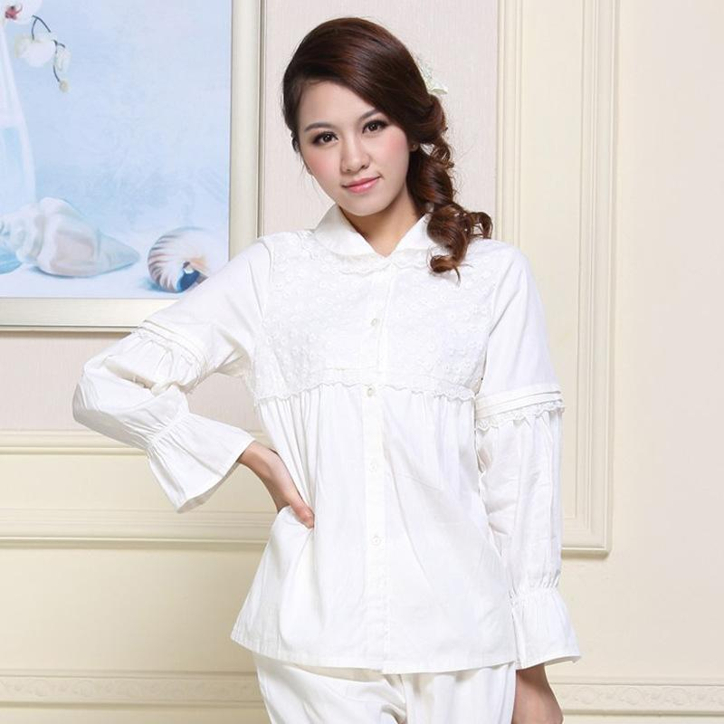 279005e08ee 2019 Pajamas Set 2018 Sexy Pyjamas For Women Home Wear Long Sleeve Sleepwear  Cotton Soft Pajama Sets Vintage Indoor Clothing Female From Jellwaygood