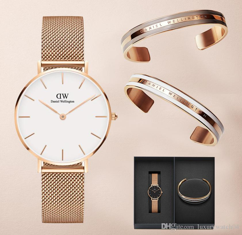 59fb0b750fad Compre Nueva Moda Reloj De Pulsera DW 32 Mm 40 Mm Correa De Acero De Los  Hombres De Las Mujeres Relojes De Marca De Lujo Casual Reloj De Cuarzo A   12.19 Del ...