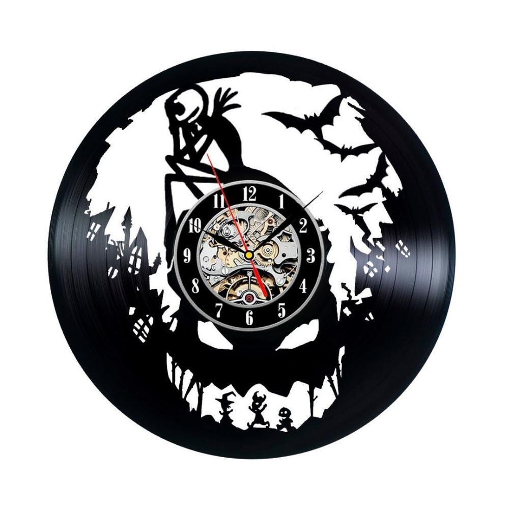 Nightmare Before Christmas Vinyl Wall Clock Vintage Gift 12 Wall ...