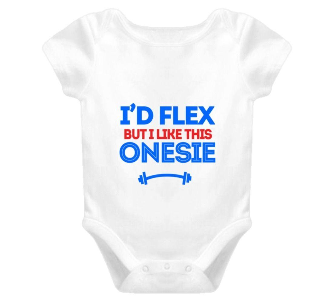 I'd Flex B I Like This Onesie Ce Baby One-Piece Muscle Fitness T Shirt Free shipping Harajuku Tops Fashion Classic Unique