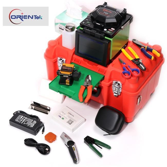 Orientek T40 FTTH Optical Fiber Fusion splicer Kit w/ Fiber Cleaver, Optic  stripper