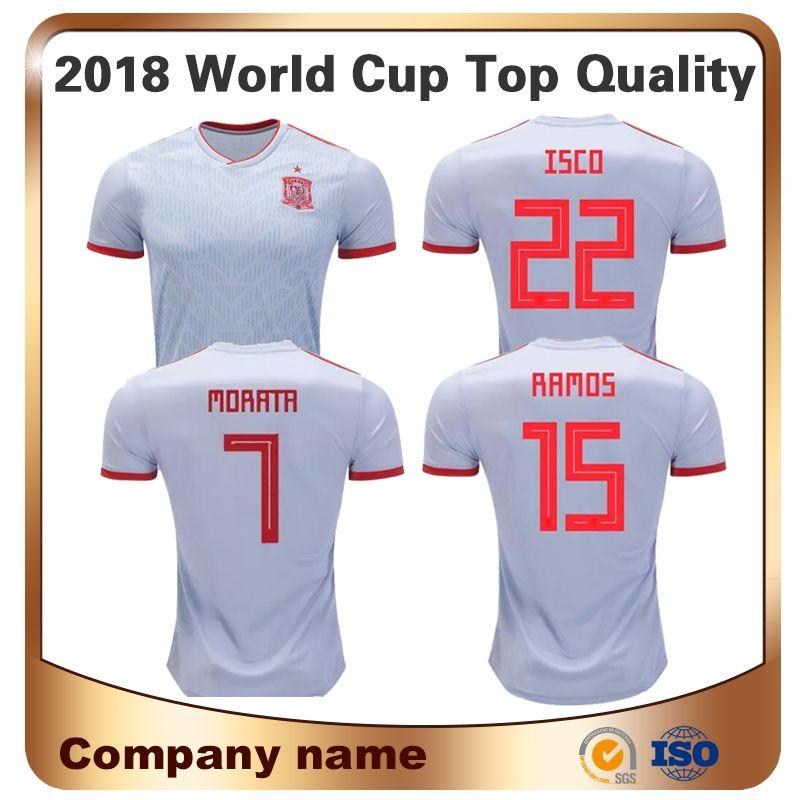 ae25d1ef4 2018 Men Short New Spain Soccer Tracksuit Away Football Jersey ...