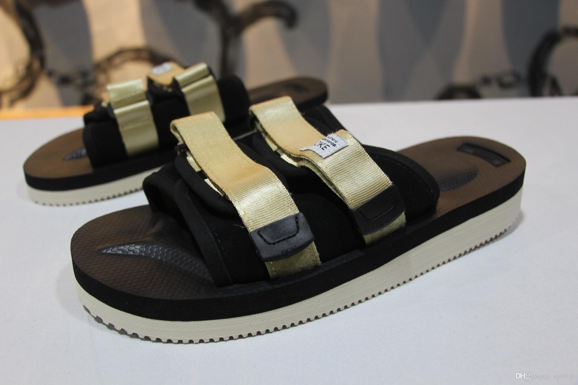 6e6dac65721e New Top Quality Red CLOT X SUICOKE OG-056STU MOTO-STU Summer Trip Fest  Black Gold Silk Sole Sandal Slides SUICOKE KISEEOK-044V Slippers Sandal  SNEAKERS ...