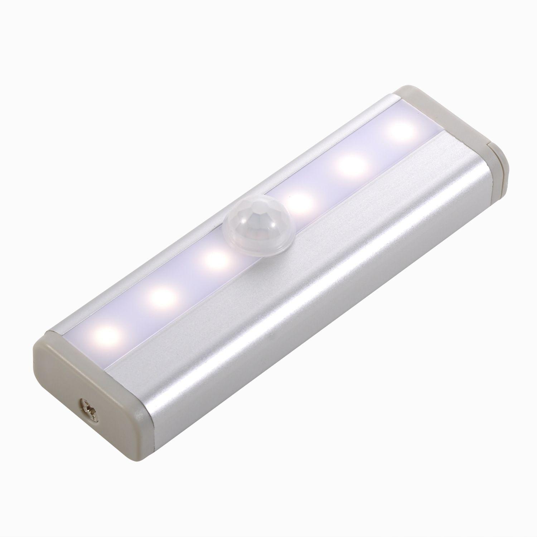 Motion Sensor LED Cabinet light 6LEDs Portable Wall lamp Rigid Strip Bar Light for Cupboard Kitchen Wardrobe