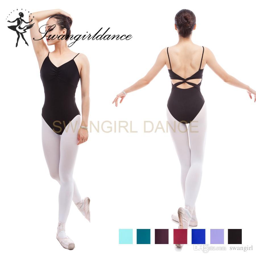 d0a3af8ca 2019 Sleeveless Matt Lycra Ballet Black Leotard For Women Dance ...