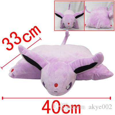 Hot Sale 33x40cm Cartoon Cushion Eevee Espeon Umbreon Pikachu Home & Garden Pillow Stuffed Plush Toy For Child Best Gifts