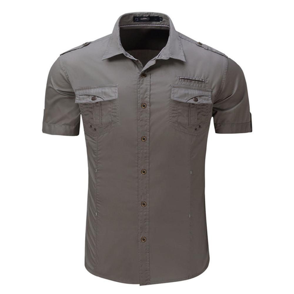 379a45f554 Compre Camisa De Manga Corta Para Hombre Estilo Breve Coreano Blusa Delgada  Chico Guapo Oficina Camisas Casuales Hombre De Alta Calidad Tops De Algodón  2018 ...
