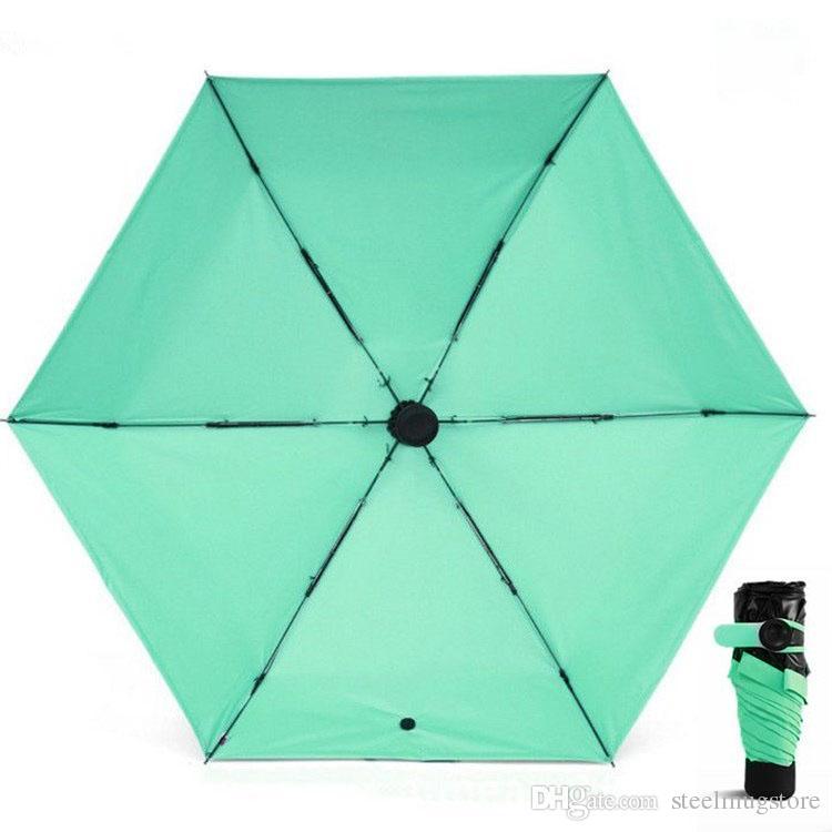 Top Quality! Mini Pocket Umbrella compatto antivento pieghevole parasole da viaggio Super leggero portatile Sun pioggia ombrelli i