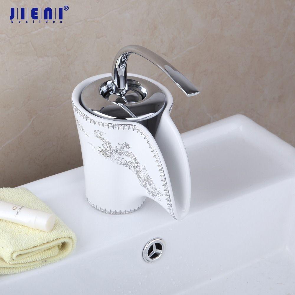 großhandel dragon new ceramic badezimmer wasserfall chrom messing