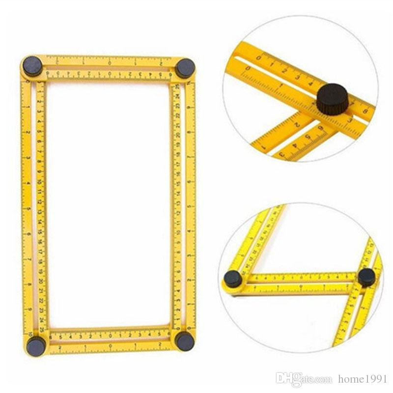 Angleizer Multi-Angle Measuring Instrument Angle-izer Template Tools Four-Sided Ruler For Handymen Builders Craftsmen Plastic Folding Rulers