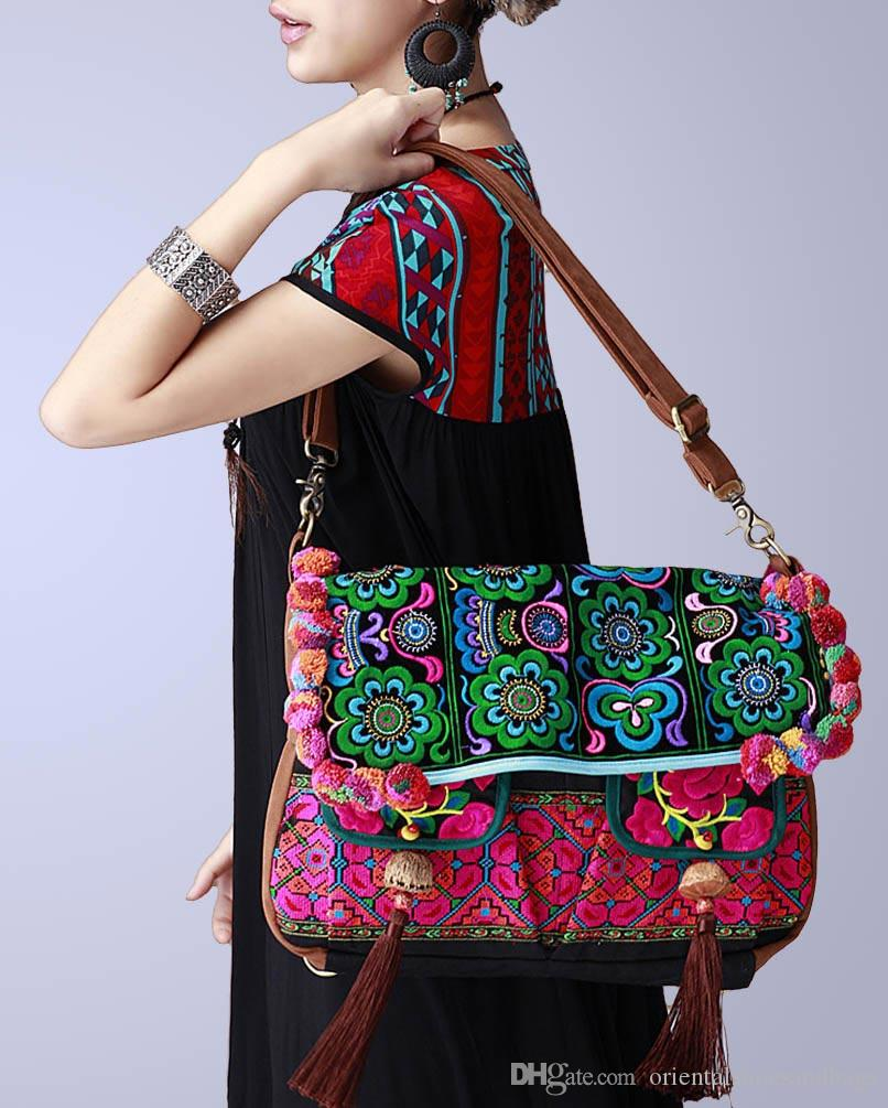 0f0cef93429 100% Handmade Handbag Purse Shoulder Sling Bag - Fine Oriental Embroidery  Art #137