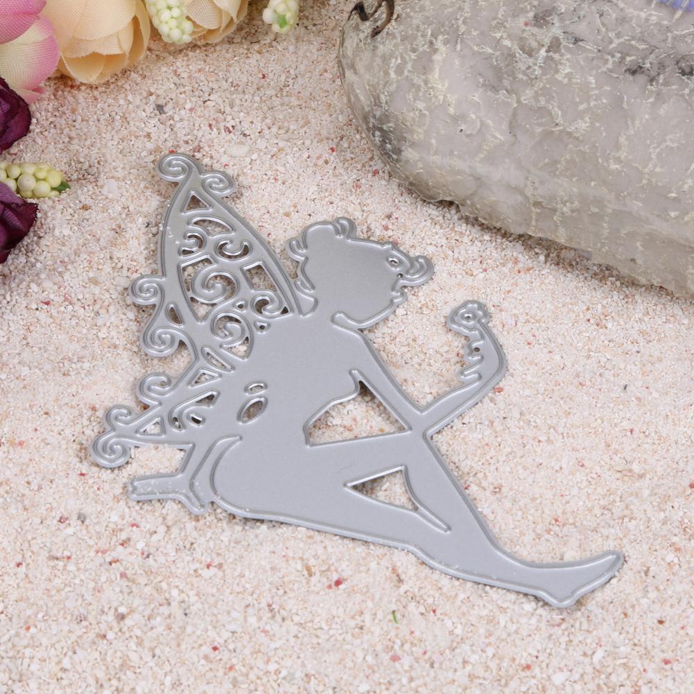 1Pc Metal Dainty Sitting Fairy Cutting Dies Stencil For DIY Scrapbooking Album Photo Decorative Paper Card Craft