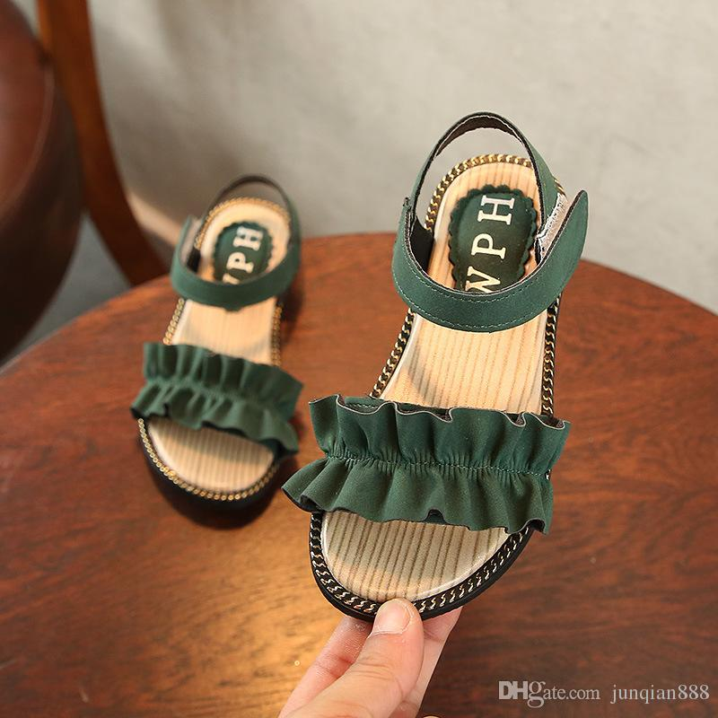 Childrens Sandals 2018 New Baby Girls Kids Shoes Toddler Sandals ... ad80c2376f10