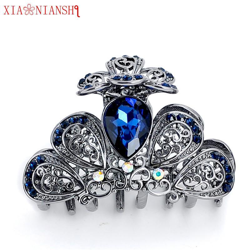 2019 Fashion Wedding Jewelry Women Vintage Hairpins Crab Hair Claw Clip  Retro Big Crystal Butterfly Headband Girls Hair Accessories S918 From  Ruiqi07 e1dc3ea0611e