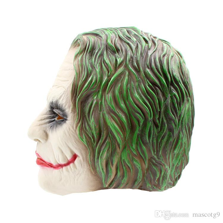Joker Mask Realistic Batman Clown Costume Halloween Mask Adult Cosplay Movie Full Head Latex Party Mask