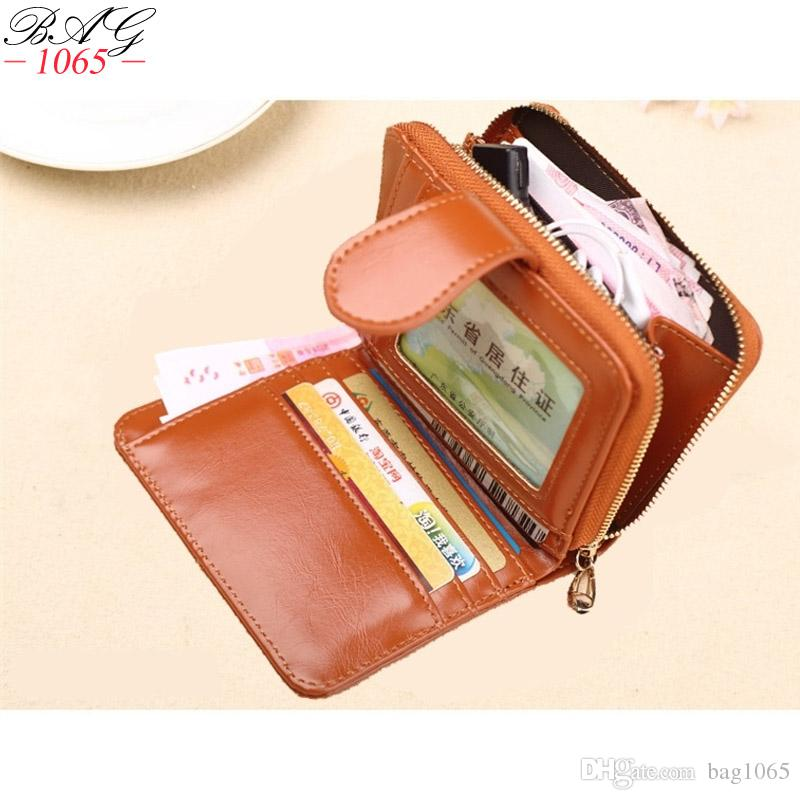 385f9085c83c New Vintage Oil Wax Leather Women Wallets Leather Card Holder Short Clutch  Small Girls Wallet Fashion Female Purse Lady