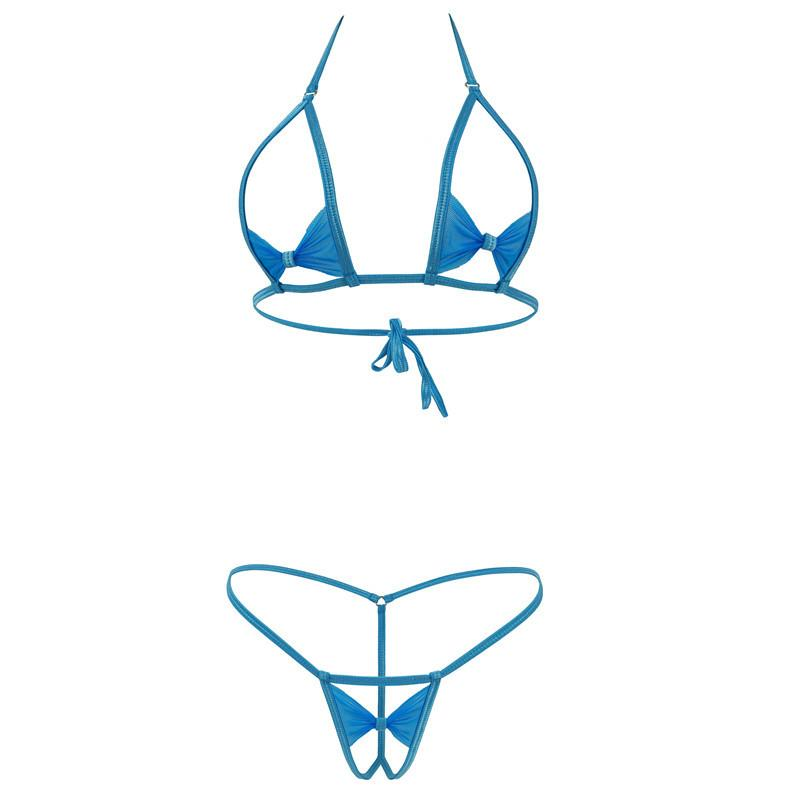 0a28ef7db4d Extreme Mini Micro Bikini Hot Sexy Butterfly Open Crotch Erotic Lingerie  Sets Underwear Bathingsuit Nightwear Top And Bottom S18101509 Cheap Bra And  Panty ...