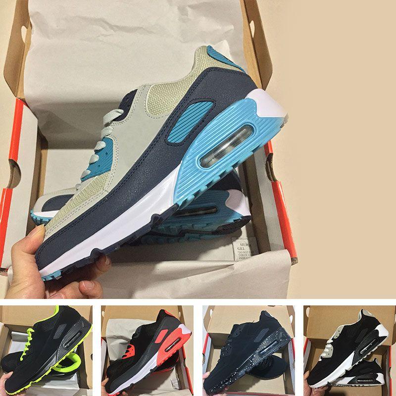 reputable site ab724 67583 Compre Zapatillas Para Hombre Zapatillas Clásicas Nike Air Max 90 Ultra  Zapatillas Para Hombres Y Mujeres Zapatillas Deportivas Black Red White  Entrenador ...