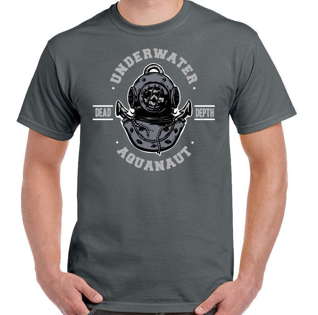 004a1a343950 174d9534f Underwater Aquanaut Mens Funny Scuba Diving T Shirt Kit Equipment  Diver Flipper Offensive T Shirts