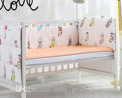 2016 cot baby bedding set cotton curtain crib bumper baby cot sets baby bed bumper bumpers+sheet+pillow cover
