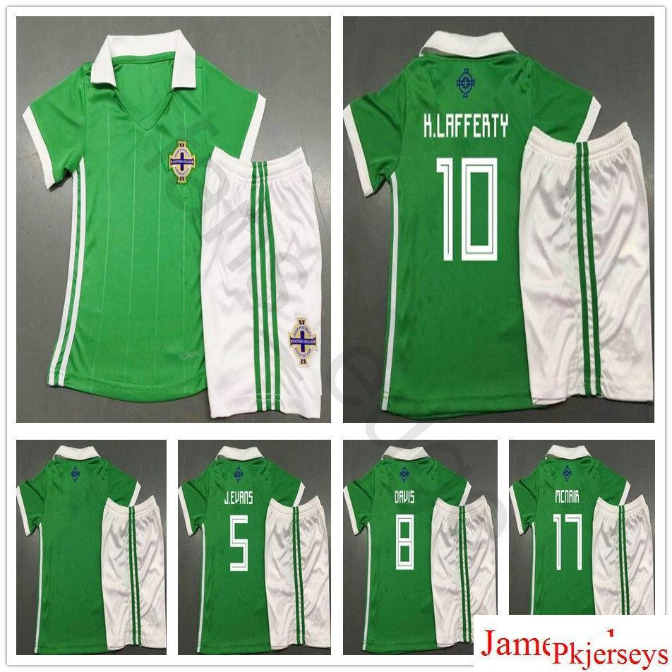 brand new 3cb03 bb70e 2018 Kids Northern Ireland Soccer Jerseys J.EVANS 8 DAVIS 10 K.LAFFERTY 17  McNAIR Customize Men Women Youth Boys Football Shirts Kits