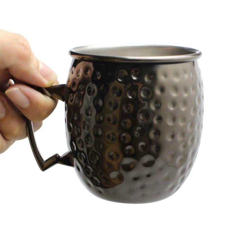 530ml Handmade Hammered Copper Plating Moscow Mule Mug Beer Vodka Whiskey Cocktails Cup Drinkware Coffee Mug ZA6031
