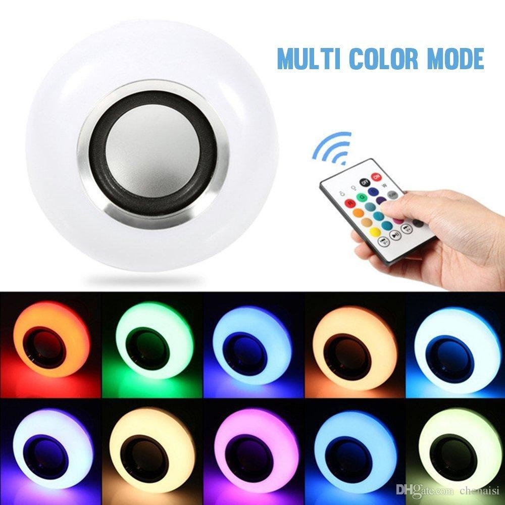 RGB Music Flame Light Ball Bulb AC 220V White Body LED Colorful Lamp Smart Music Audio Wireless Bluetooth Music Flame Lamp