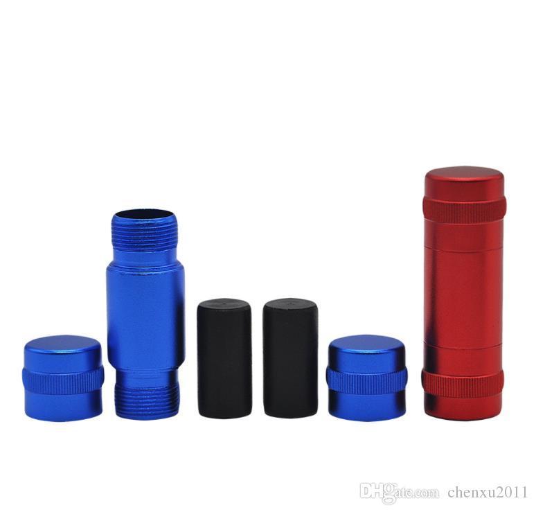 Piezas auxiliares para molino de cigarrillos, supresor de humo de cilindro de metal de trompeta, varilla de control de humo de aluminio, accesorios para fumar