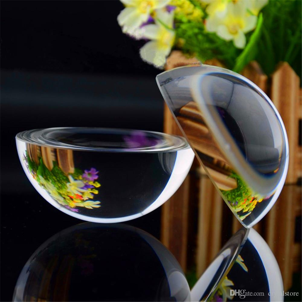 Crystal Sphere Magnifying Half Ball 80 mm Professional Glass Marbles Dome World Map Grade Reading Aid Office Desk Ornaments