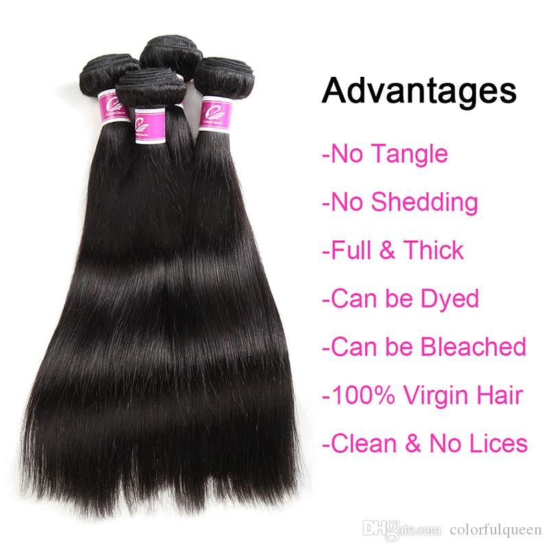 Cheap Mink Brazilian Virgin Hair Straight 4 Bundles Deals Brazilian Straight Hair Weave Soft Natural Human Hair Extensions 8-26 Inch Dyeable