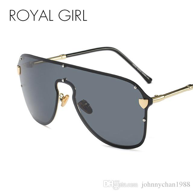 ef66a5c96abd ROYAL GIRL Trendy Oversized Women Sunglasses Men Vintage Big Frame ...