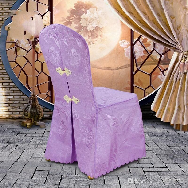 Chair Covers Hotel Polyester Fiber Phoenix Flower Table Seat Meeting Exhibition Stool Set Wedding Banquet High Quality 18wt V