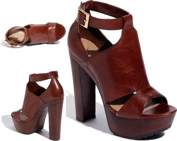 Grandes Para Con Alto Abierta Moda Sandalias De Zapatos Mujer Tacón Tallas Grueso Punta Plataforma Cuero 5Aj4LR