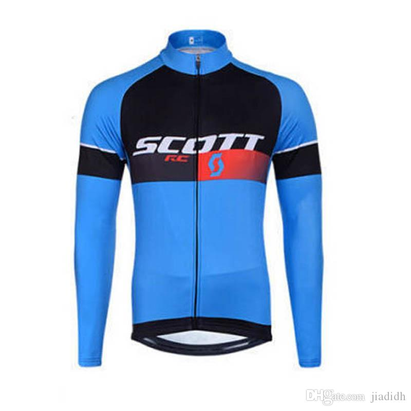 2018 Pro Team Scott Cycling Jersey Long Sleeve Mtb Bicycle Tops ... 3eb385ac5