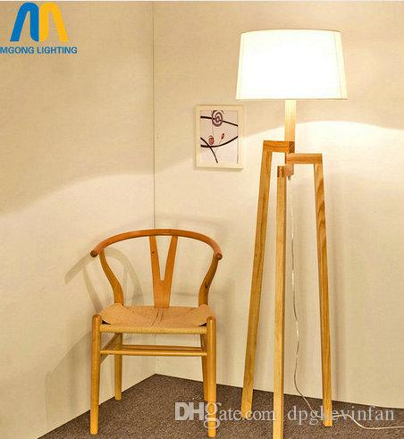Grosshandel Moderne Led Stehlampe Schone Holz Design Stehlampen Japan
