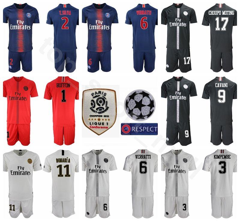 2019 Man FC PSG Soccer Jersey Paris Saint Germain Set 2 Thiago Silva 6  Marco Verratti Angel Di Maria Football Kits Pant Custom Name From  Vip sport 7a462fefd