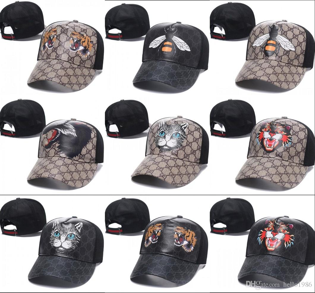 6dae5a7b439f 2018 New Tiger Caps Snake Snapbacks Baseball Caps Leisure Leather Hats Bee  Cat Snapbacks Blind Hats Golf Sport Hip Hop Hats Casquette Design Your Own  Hat ...