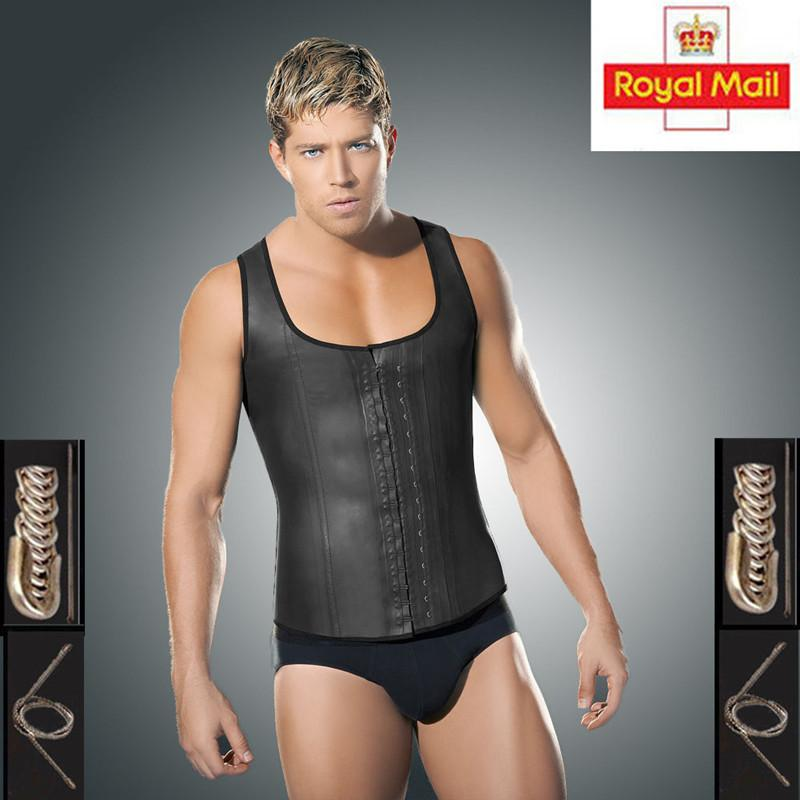 d360f672b3 2019 Hot Plus Size Vest Latex Waist Cincher For Men Waist Corset Hot Shaper  Body Slim Weight Loss Trainer From Watchlove