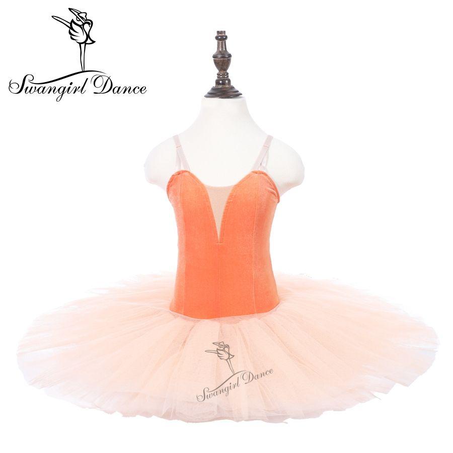 8595f6e3b4 Compre Niñas Naranja Ballet Leotardos Vestido Tutu Baile De Rendimiento  Infantil Practicando Ballet Tutu Ballerina Faldas PPL18044C A  73.27 Del  Swangirl ...