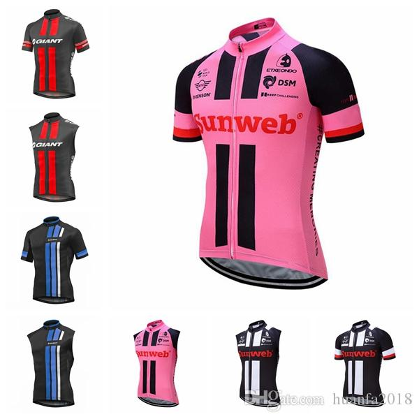 364f8910 Hot New GIANT team Cycling Short Sleeves/Sleeveless jersey Vest Mens  Windproof Road Bike high quality size XS-4XL D2417