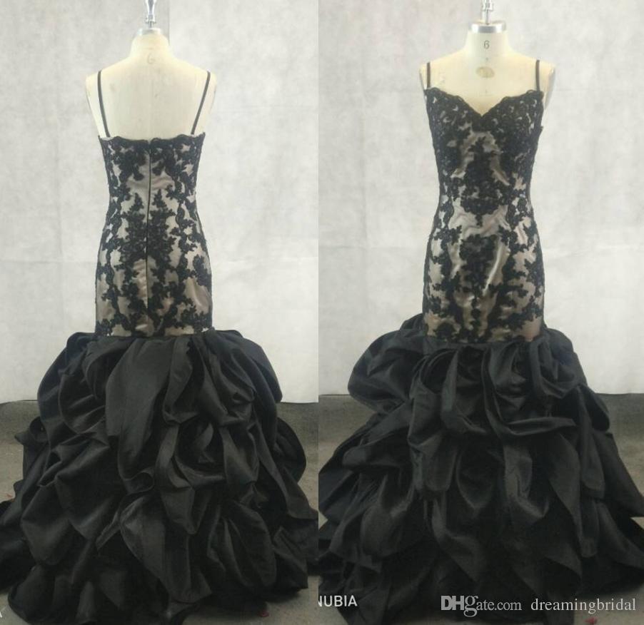 Spaghetti Straps Mermaid Prom Dresses 2017 New Sleeveless Sweetheart ...