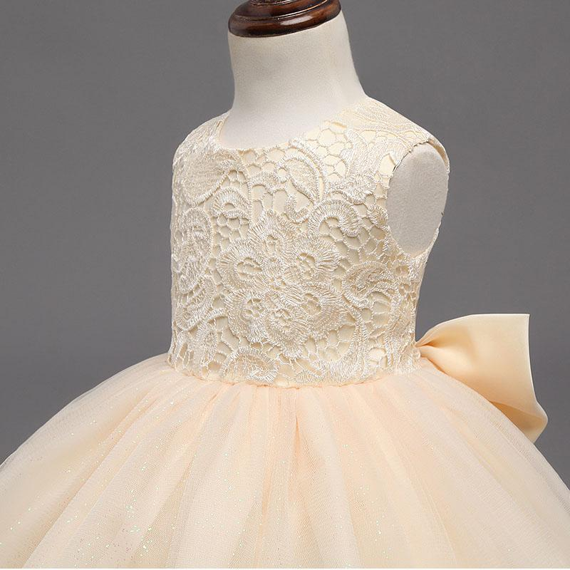Girl Halter Prom Dress Fashion 2017 Baby Girl Cute Clothes Flower Girls Dress for Kids Wedding Party Clothing Child Lace Dress